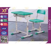 Quality Durable Kid's School Desk And Chair PE Seat And Back Comfortable for sale
