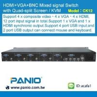 Quality 1080P HD HDMI Seamless kvm switch and multi-viewer and plug-in design for sale