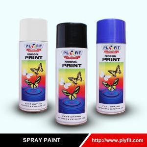 Quality EN71 TUV Black Acrylic Aerosol Paint Car Graffiti Artist Spray Paint for sale