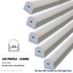 Quality aluminum led profile/sliding profile for strip for sale
