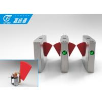 Secuirty Barcode Scanned Automatic Flap Sliding Turnstile Gate For Airport
