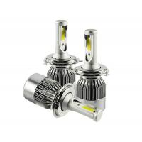 Buy Single Beam Motorcycle COB Led Headlight Bulbs 9005 36W 4000lm 8000K Aluminum Material at wholesale prices