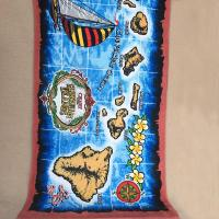 Quality OEM Hawaii Design Islands Printed Beach Towels Marine Styles With 10 Colors for sale