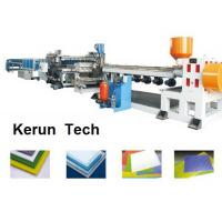 Quality Plastics Extrusion Machinery / PVC Foam Board Making Machine for Faux Marble for sale