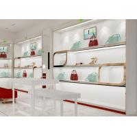 Buy Beautiful Adjustable Wood Shelving / Shoe Wall Display For Lady Shoe Mall at wholesale prices