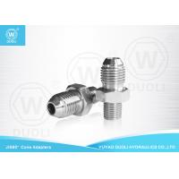 Quality Straight Hydraulic Pipe Adapters With JIS Male And BSPT Male Thread OEM Service for sale