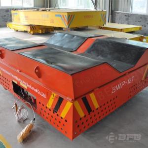 Quality V-groove Deck Cylinder Handling Equipment Electric Trackless Transfer Bogie for sale
