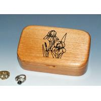 Quality Natural Wood Solid Timber Jewellery Box , Handmade Wooden Earring Jewelry Box for sale