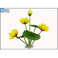 Buy Beautiful Yellow Rose / Lutos Flower Artificial Plastic Ornament Plant Eco at wholesale prices