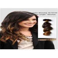 Quality Soft Dip Dye Human Hair Extensions , No Shedding Tangle Free Weave Human Hair for sale