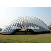 Quality Flame Retardant 20M Inflatable Air Tent / White Constantly Inflatable Dome Stadium for sale