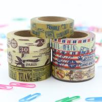 Quality Decorative Thin Gold Washi Tape Rolls Rice Paper Heat Resistant Craft Art Package for sale
