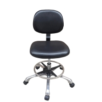 Quality PA nylon casters PU ESD Anti Static Cleanroom Chair 480*400mm for sale