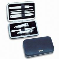 Quality Stainless Steel Manicure Set, OEM Orders are Welcome, Ideal for Travelling and Promotional Gifts for sale