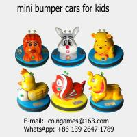 Quality 2018 New Amusement Park Equipment Kids Coin Operated Arcade Game Machine Children Mini Animal Battery Bumper Cars for sale