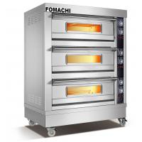 Quality Hot Sale Electric Deck Oven 3 Deck 6 Trays Front S/S FMX-O38C for sale