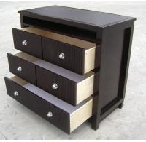Quality American Style Bedroom 3 Drawer Dresser HPL Top Oak / Walnut Wood for sale