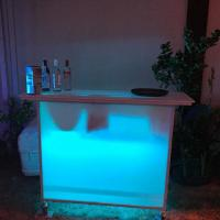 Quality Cordless Cocktail Mobile Bar For Weddings , Ktv Lobby Led Mobile Bar Uv Protection for sale