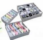 Quality 3PCS Underwear Bra Socks Ties Divider Closet Container Storage Box Organizer Set for sale