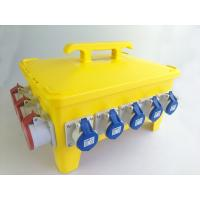 Quality IP66 36 Ways Portable Distribution Box Yellow Load Master Overcurrent Protection for sale