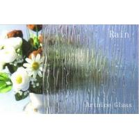 Buy 3mm to 8mm Rain Patterned Glass, Rolled Glass, Figured Glass with Certificate ISO and BV at wholesale prices