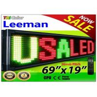 Quality Outdoor Programmable LED Signs Multi Language , Wireless LED Scrolling Message Display Board for sale