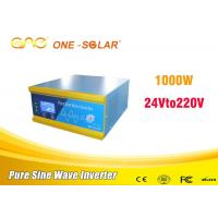 Quality Low Frequency Single Phase Solar Panel Power Inverter 1000w 24vdc To Ac Without Battery for sale