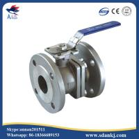 Quality 2 Pcs Flange connection type Stainless Steel Ball Valve for hot water WCB DN50 PN16 ANSI DIN JIS for sale