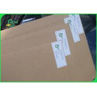 Quality 250gsm 300gsm 350gsm Good Stiffness Brown Kraft Liner Paper With FSC Report 70*100cm for sale