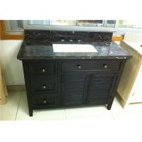 Buy cheap Black Color 40 Inch Bathroom Vanity Cabinet , Bathroom Sink Cabinets from wholesalers