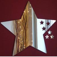 Quality Five-pointed Star Shape Acrylic Mirror Sheets With Excellent Service for sale