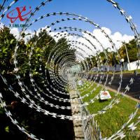 Quality CBT BTO Razor Security Barbed Wire for Railway and Lawn with Single / Cross Coil for sale