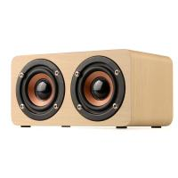 Quality Dual-horn Wooden Bluetooth Wireless Portable Speaker With Bass Music Sound, Intelligent Hands-free Calls for sale