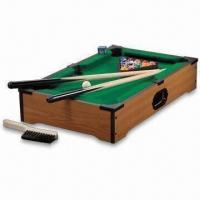 Quality MDF Mini Pool Table with Wood Grain Finish and Felted Top for sale