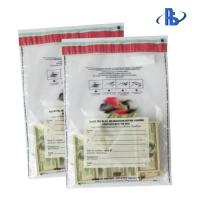 China Tear Proof Tamper Evident Security Bags With Crafted Writing Area on sale