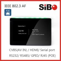 Quality Attendance System 7 Inch Wall Mounted Android POE Touch Screen With RGB LED Light for sale