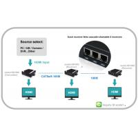 Quality VGA Video over IP Extender with Audio can chian able HDMI and RS232 and IR for sale