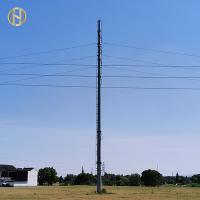 Quality 10.5M 35FT Octagonal Steel Pole 500daN 5KN GR65 With ISO 9001 Certification for sale