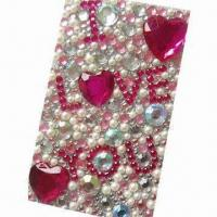 Quality Rhinestone sticker for promotional and gift purposes, OEM orders are welcome for sale