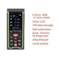 China 50m 164ft with Color LCD and Tilt angle Digital rechargeable Laser Rangefinder laser distance meter measure tools on sale