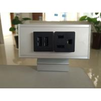 Buy cheap Desk Mounted Power Sockets with 1 Outlets & 2 USB Ports , Metal Tabletop Outlet 125V 15A from wholesalers