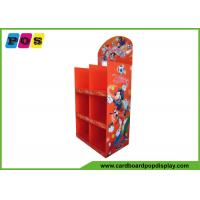 China Portable Store Advertising Cardboard Display Stands Towel Floor Display Stand FL081 on sale