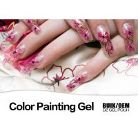 Quality Harmless Gel Nail Paint Polish Strong Adhesion MSDS / SGS Authentication for sale
