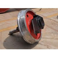 Quality large capacity single flange steel trolley wheel running on steel rails for sale