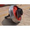 Buy cheap large capacity single flange steel trolley wheel running on steel rails from wholesalers