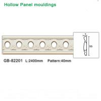 Buy cheap Easy installation 2400mm Pu White foam hollow panel moulding from wholesalers