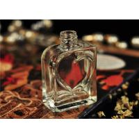 Quality 30ml Small Glass Perfume Bottles Vintage Silk Printing Heart Shape for sale