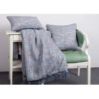Quality Elegant Decorative Pillow Covers , 100% Polyester Blue Throw Pillows For Couch for sale