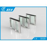 Quality Slim Flap Barrier Turnstile Anti - Pinch Function , Infrared Sensors Security Gate Card Reader for sale