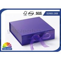Quality Ribbon Folding Gift Paper Box Customized Luxury Rigid Gift Packing Folded Paper Box for sale